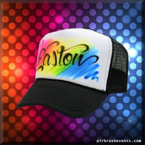 Custom Airbrush Trucker Hat Party Favors