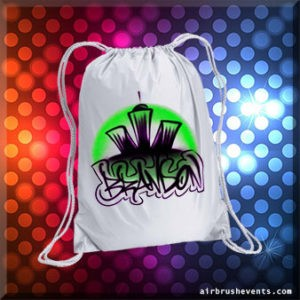 Custom Party Favors | Airbrushed Drawstring Bags