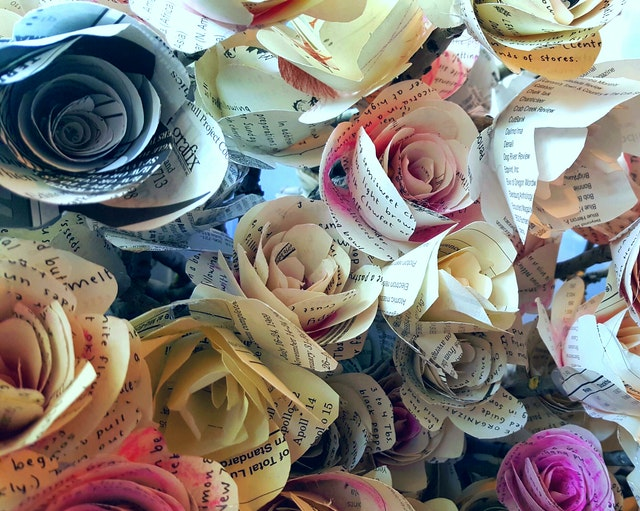 Paper flowers for children's party decorations