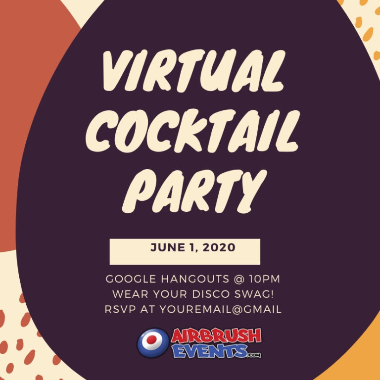 send out invites to your virtual cocktail party